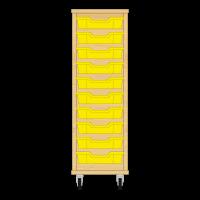 Storix Eigendomskast beuken 1 kol. 10 laden geel
