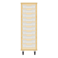 Storix Eigendomskast beuken 1 kol. 10 laden transparant