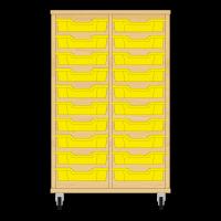 Storix Eigendomskast beuken 2 kol. 10 laden geel