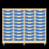 Storix Eigendomskast beuken 4 kol. 10 laden blauw