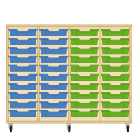 Storix Eigendomskast beuken 4 kol. 10 laden blauw-blauw-groen-groen