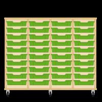 Storix Eigendomskast beuken 4 kol. 10 laden groen