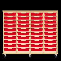 Storix Eigendomskast beuken 4 kol. 10 laden rood