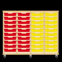 Storix Eigendomskast beuken 4 kol. 10 laden rood-rood-geel-geel