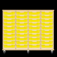 Storix Eigendomskast beuken 4 kol. 10 laden geel