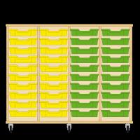 Storix Eigendomskast beuken 4 kol. 10 laden geel-geel-groen-groen