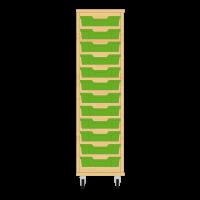 Storix Eigendomskast beuken 1 kol. 12 laden groen