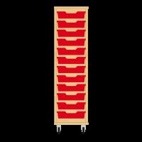 Storix Eigendomskast beuken 1 kol. 12 laden rood
