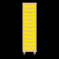 Storix Eigendomskast beuken 1 kol. 12 laden geel