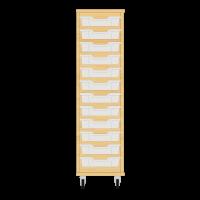 Storix Eigendomskast beuken 1 kol. 12 laden transparant