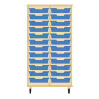 Storix Eigendomskast beuken 2 kol. 12 laden blauw