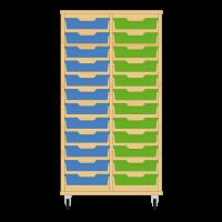 Storix Eigendomskast beuken 2 kol. 12 laden blauw-groen