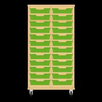 Storix Eigendomskast beuken 2 kol. 12 laden groen