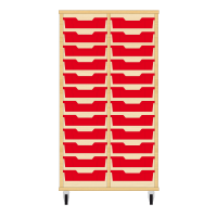 Storix Eigendomskast beuken 2 kol. 12 laden rood