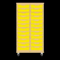 Storix Eigendomskast beuken 2 kol. 12 laden geel