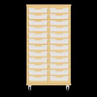 Storix Eigendomskast beuken 2 kol. 12 laden transparant
