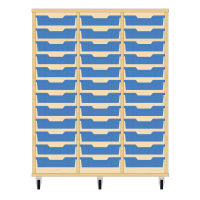 Storix Eigendomskast beuken 3 kol. 12 laden blauw