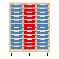 Storix Eigendomskast beuken 3 kol. 12 laden blauw-rood-blauw