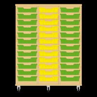 Storix Eigendomskast beuken 3 kol. 12 laden groen-geel-groen