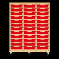 Storix Eigendomskast beuken 3 kol. 12 laden rood