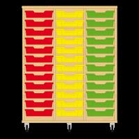 Storix Eigendomskast beuken 3 kol. 12 laden rood-geel-groen
