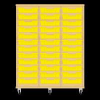 Storix Eigendomskast beuken 3 kol. 12 laden geel