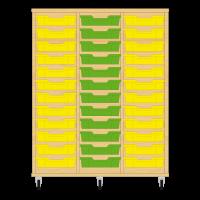 Storix Eigendomskast beuken 3 kol. 12 laden geel-groen-geel