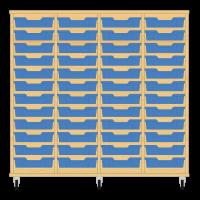 Storix Eigendomskast beuken 4 kol. 12 laden blauw