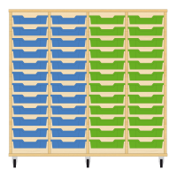 Storix Eigendomskast beuken 4 kol. 12 laden blauw-blauw-groen-groen