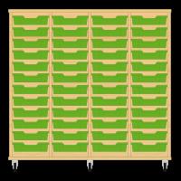 Storix Eigendomskast beuken 4 kol. 12 laden groen