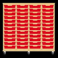 Storix Eigendomskast beuken 4 kol. 12 laden rood