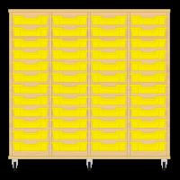 Storix Eigendomskast beuken 4 kol. 12 laden geel
