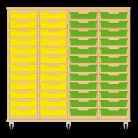 Storix Eigendomskast beuken 4 kol. 12 laden geel-geel-groen-groen