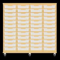 Storix Eigendomskast beuken 4 kol. 12 laden transparant