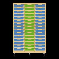 Storix Eigendomskast beuken 3 kol. 15 laden blauw-groen-blauw