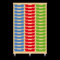 Storix Eigendomskast beuken 3 kol. 15 laden blauw-rood-groen
