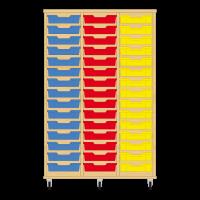 Storix Eigendomskast beuken 3 kol. 15 laden blauw-rood-geel
