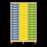 Storix Eigendomskast beuken 3 kol. 15 laden blauw-geel-groen