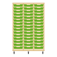 Storix Eigendomskast beuken 3 kol. 15 laden groen