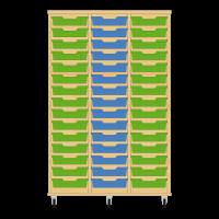 Storix Eigendomskast beuken 3 kol. 15 laden groen-blauw-groen