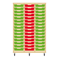 Storix Eigendomskast beuken 3 kol. 15 laden groen-rood-groen