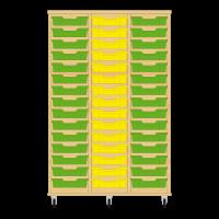 Storix Eigendomskast beuken 3 kol. 15 laden groen-geel-groen