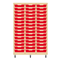 Storix Eigendomskast beuken 3 kol. 15 laden rood