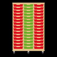 Storix Eigendomskast beuken 3 kol. 15 laden rood-groen-rood