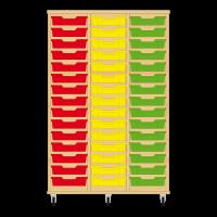 Storix Eigendomskast beuken 3 kol. 15 laden rood-geel-groen
