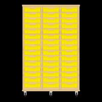 Storix Eigendomskast beuken 3 kol. 15 laden geel