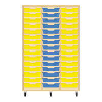 Storix Eigendomskast beuken 3 kol. 15 laden geel-blauw-geel