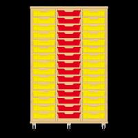 Storix Eigendomskast beuken 3 kol. 15 laden geel-rood-geel