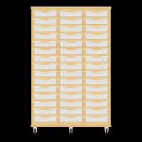 Storix Eigendomskast beuken 3 kol. 15 laden transparant