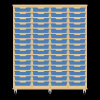 Storix Eigendomskast beuken 4 kol. 15 laden blauw